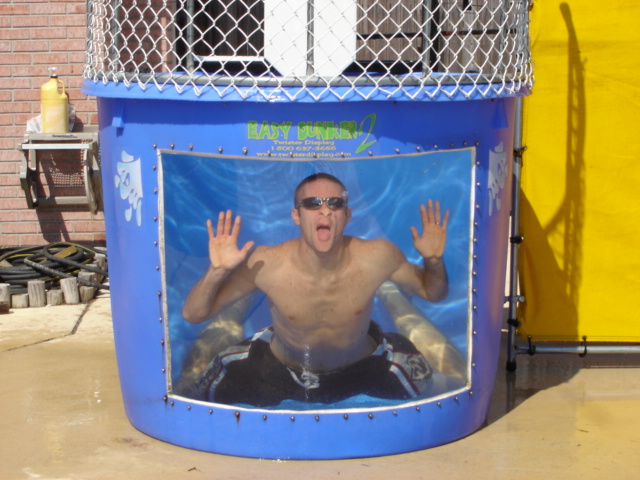 Effective? Naked dunk tank men excited