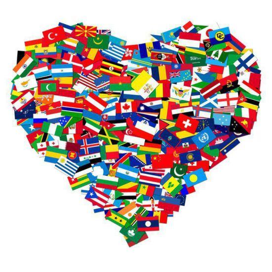 Heart-flags